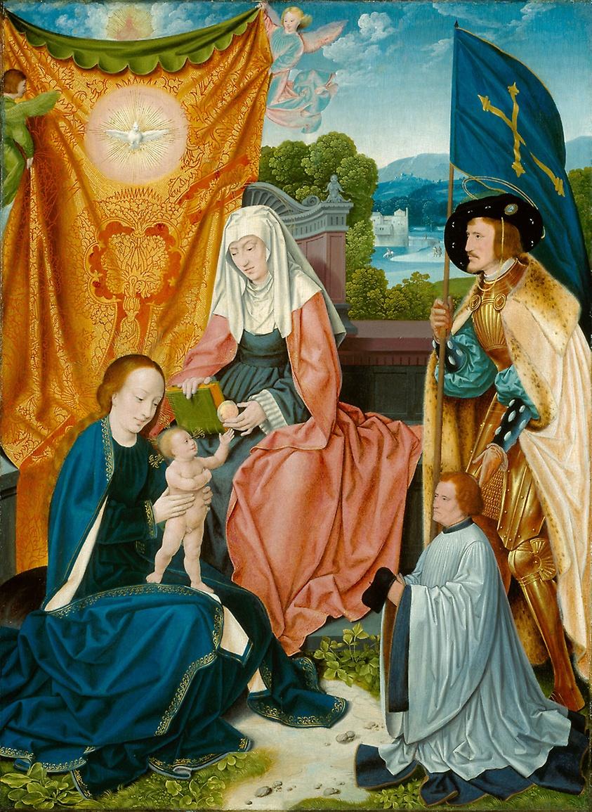 1520 ca bartholomaus-bruyn-lancien vierge-a-lenfant-avec-sainte-anne-saint-gereon-et-un-donateur Art Institute of Chicago