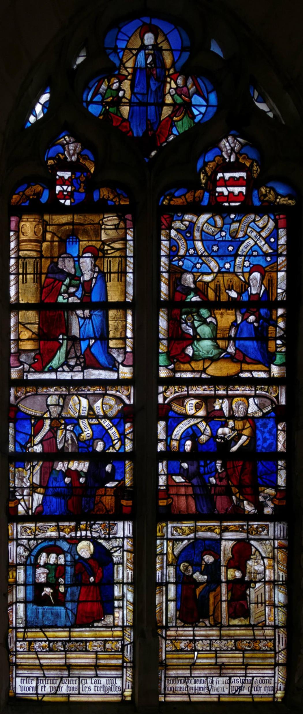 1522 Guillemette, veuve de Nicolas Vinot eglise Saint Parres aux-Tertres Denis Krieger www.mesvitrauxfavoris.fr