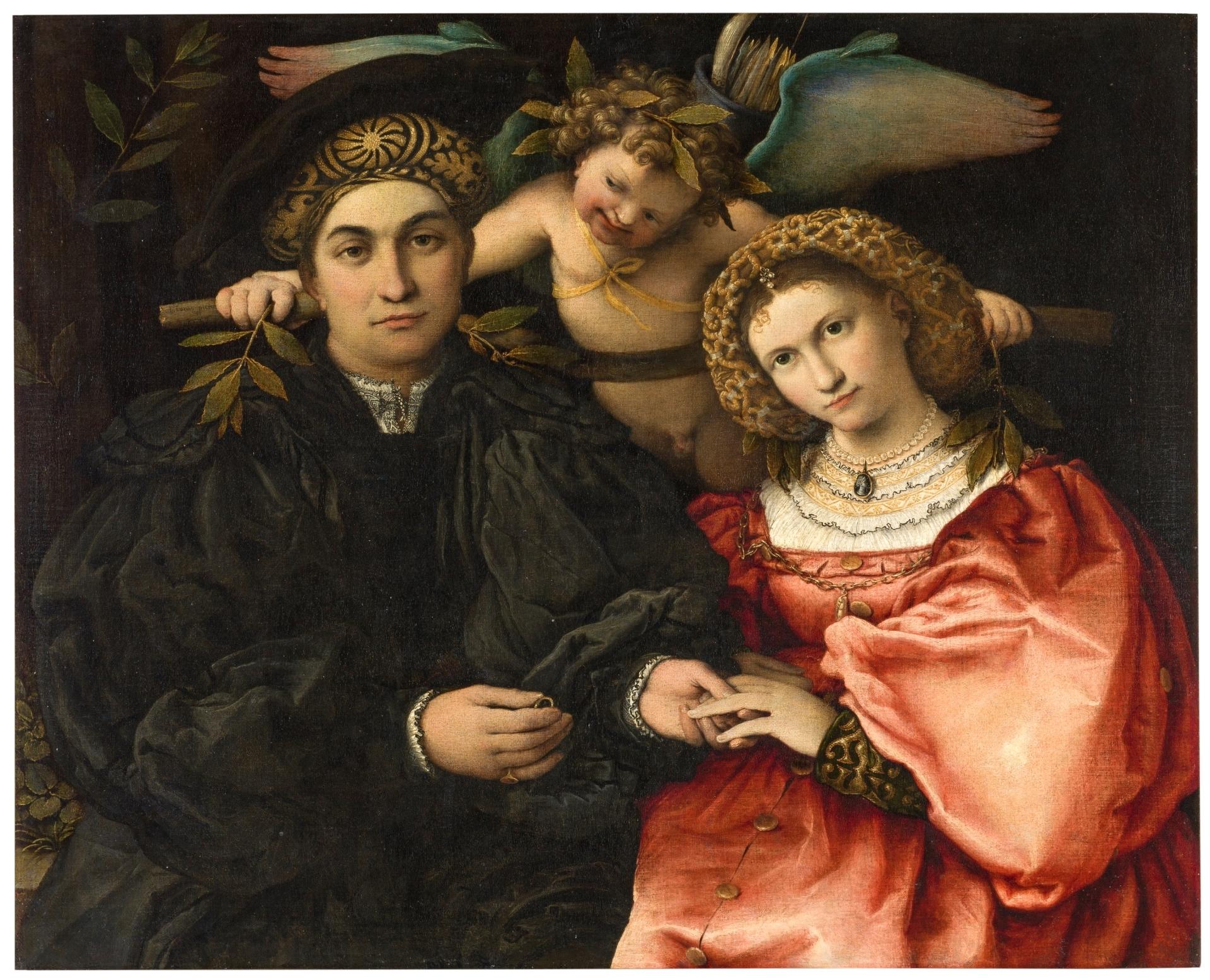 1523 Lotto Portrait of Messer Marsilio Cassotti and His Wife, Faustina, Museo Nacional del Prado, Madrid