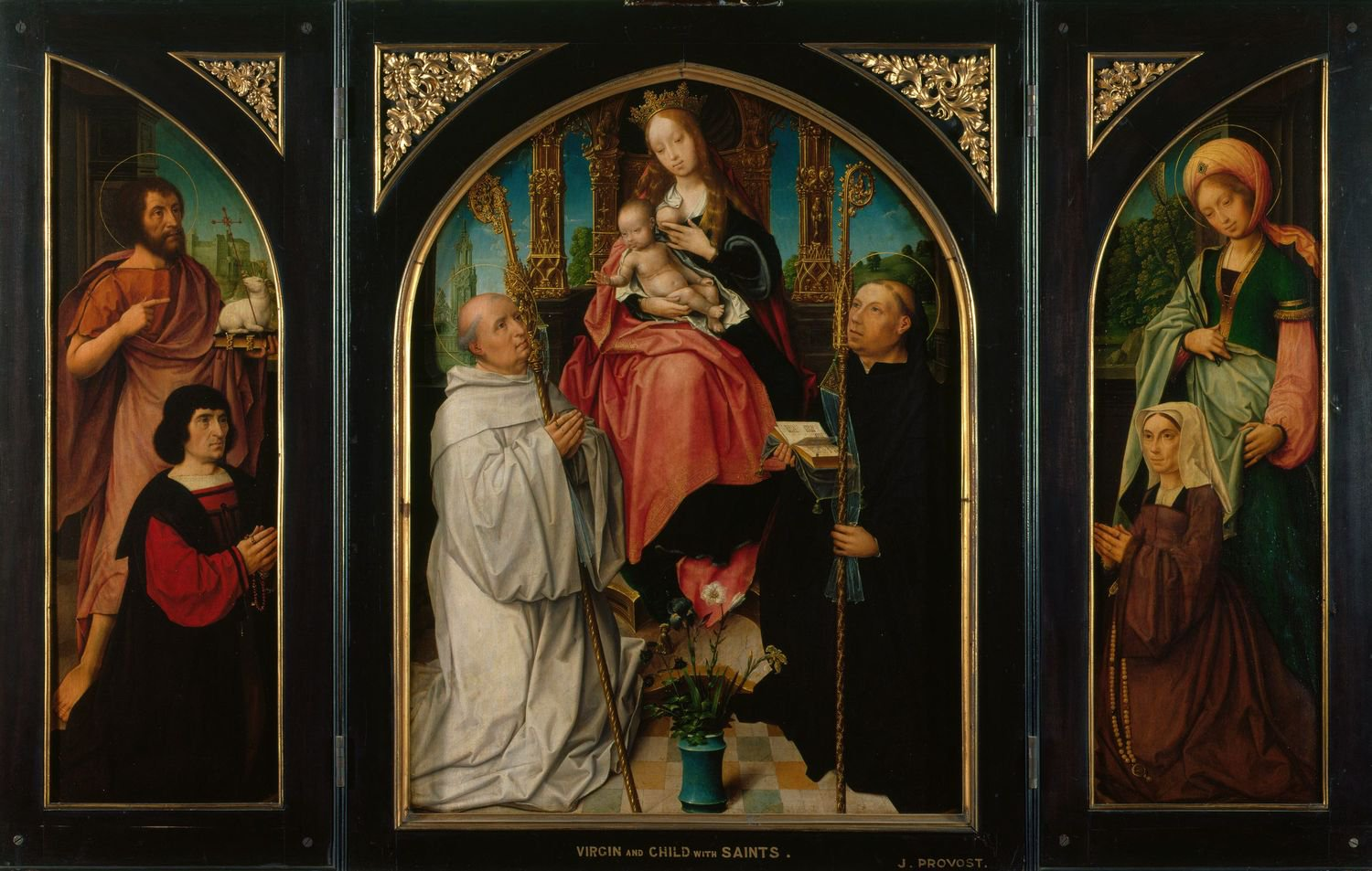 1525 ca Jan Provoost triptych-virgin-and-child-with-saints-and-donors Royal Collection Trust