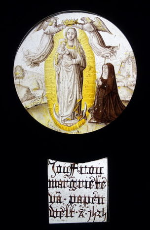 1525,_ Madonna_Immaculata_with_donor,_c._stained_glass_-_Museum_M_-_Leuven,_Belgium_-_DSC05000