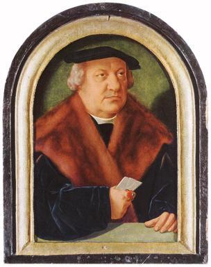 1528 Barthel_Bruyn_(I)_-_Portrait_of_Scholar_Petrus_von_Clapis_-_WGA03661Musee des Beaux Arts Budapest