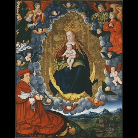 1529 Master of the Mass of St Gregory Cardinal Albrecht of Brandenburg Evangelische Marktkirchengemeinde Halle