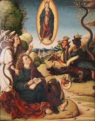 1530 ca Antonio Vazquez San Juan en Patmos Iglesia de San Pablo, Valladolid