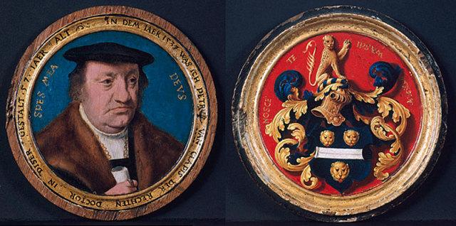 1537 Petrus_von_Clapis,_by_Bartholomäus_Bruyn Walraff richardz recto verso