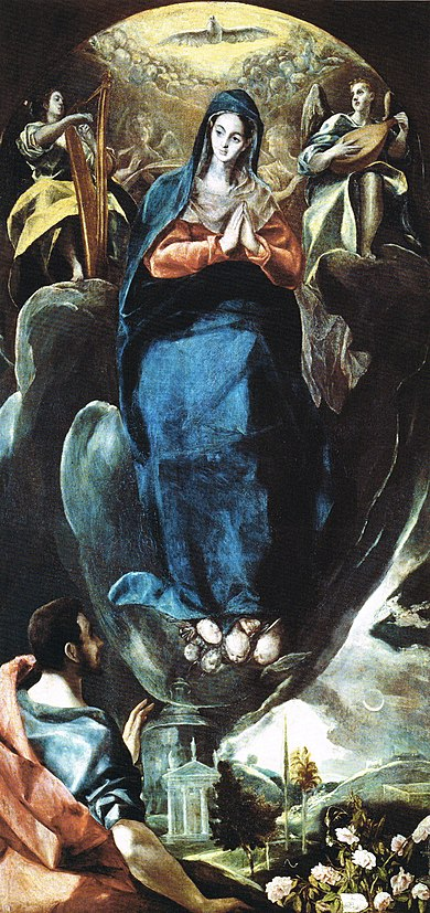 1585 El_Greco_-_The_Virgin_of_the_Immaculate_Conception_and_St_John_Musee Santa Cruz de Tolede
