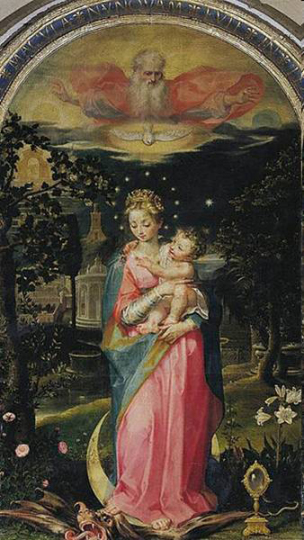 1588 Francesco Vanni, Immaculee Conception, Montalcino, San Salvatore