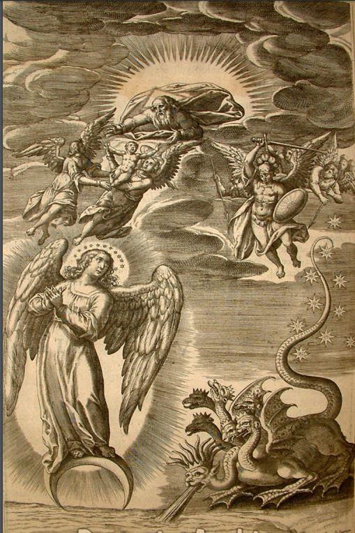 1614 Vestigatio arcani sensus in apocalypsi Ludovicus ab Alcazar, Anvers,grav Don Juan de Jauregui