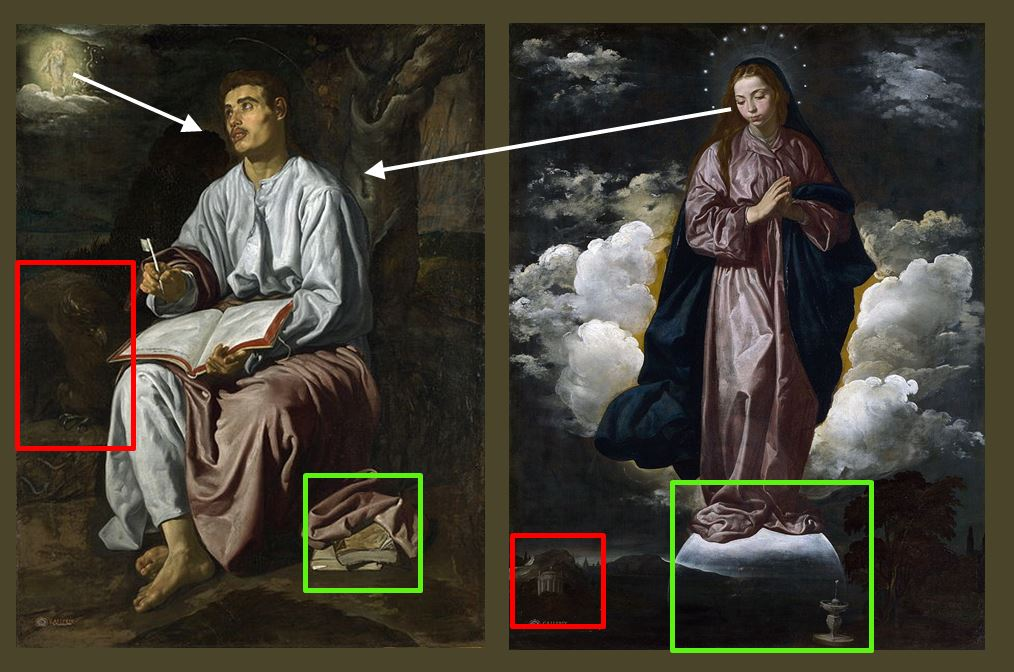 1618 Velasquez Immaculee conception National_Gallery, Londres schema