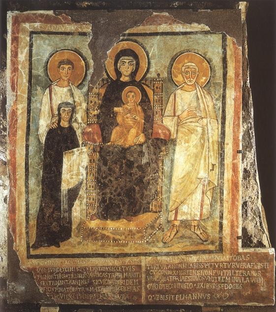 528 Saint Adauctus et Felix veuve Turtura Catacombe de Commodille Rome
