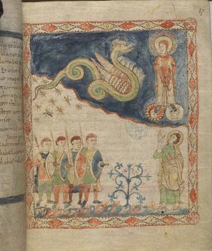 880-900 Apocalypse de Cambrai, BM Cambrai, Ms. 386 fol. 27r