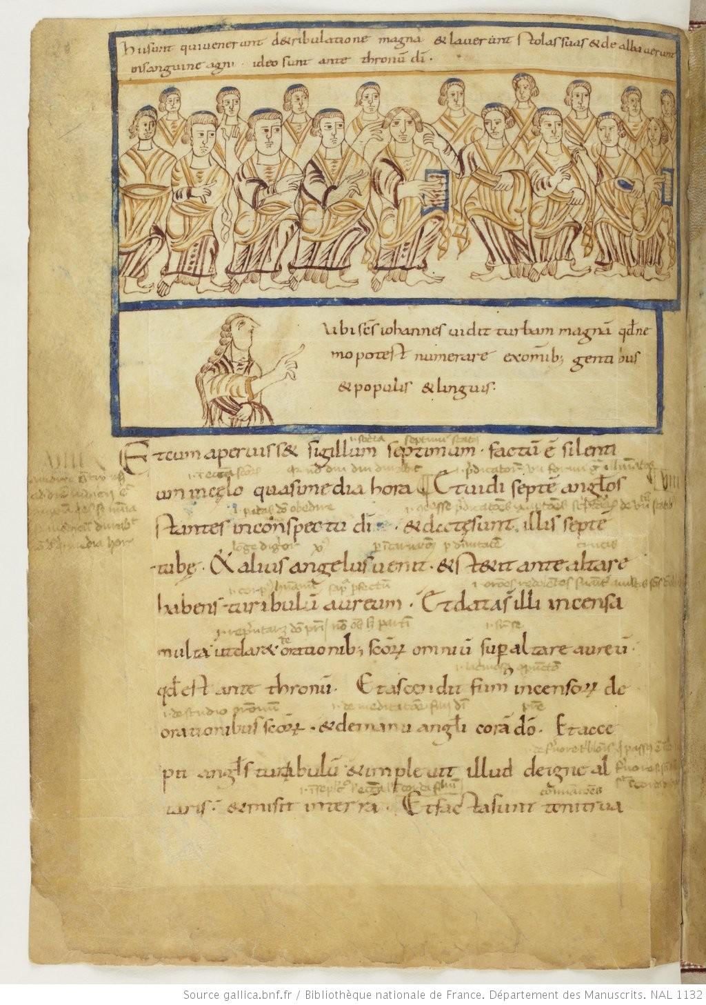 BNF n.a Lat 1132 fol 10v La multitude des elus