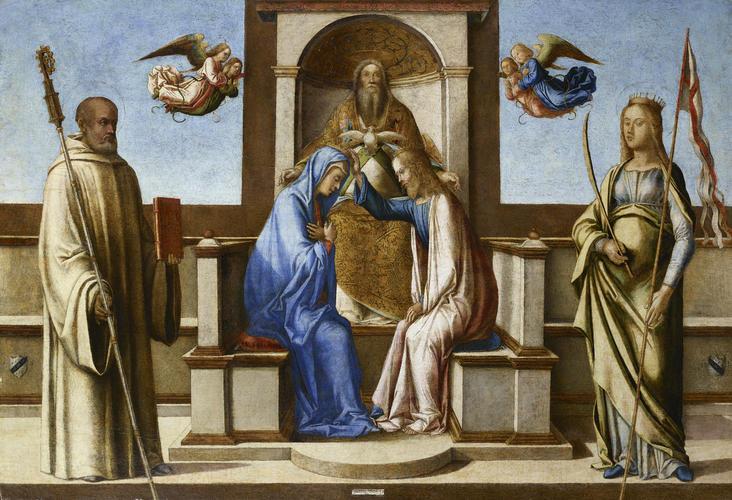 Bastiani Lazzaro Couronnement de la Vierge Accademia Carrara Bergame