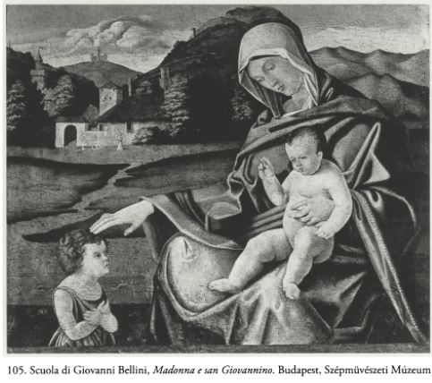 Bellini atelier Madonne avec St Jean Baptiste enfant,Budapest