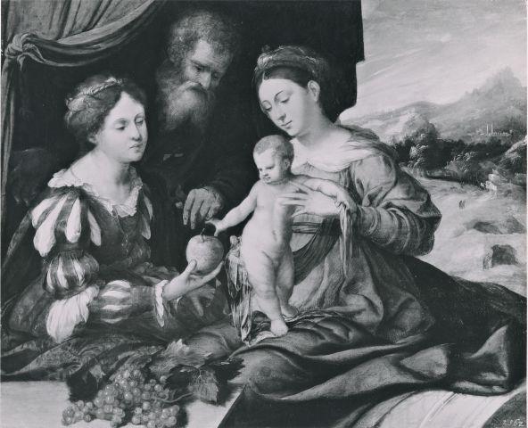 _DJ 1500-50 Anonimo veneziano Sacra Famiglia con donatrice coll priv
