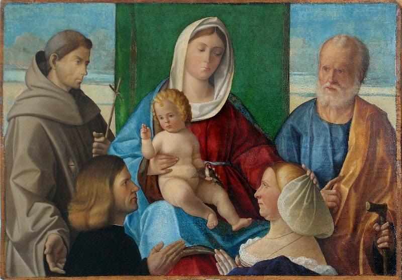 DJ 1510-29 Duia Pietro, Madonna con Bambino in trono, san Giuseppe, san Francesco d'Assisi e donatori Museo Correr, Venezia