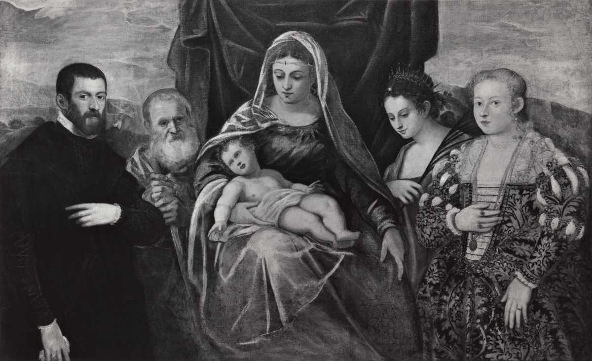 _DJ 1550-55 Tintoret Sacra Famiglia con santa Caterina d'Alessandria e donatori coll priv