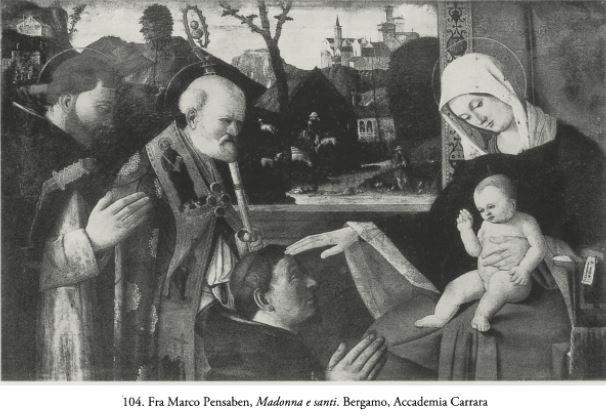 Fra Marco Pensaben San Pietro Martire e san Nicola de donatire Accademia Carrara Bergamo