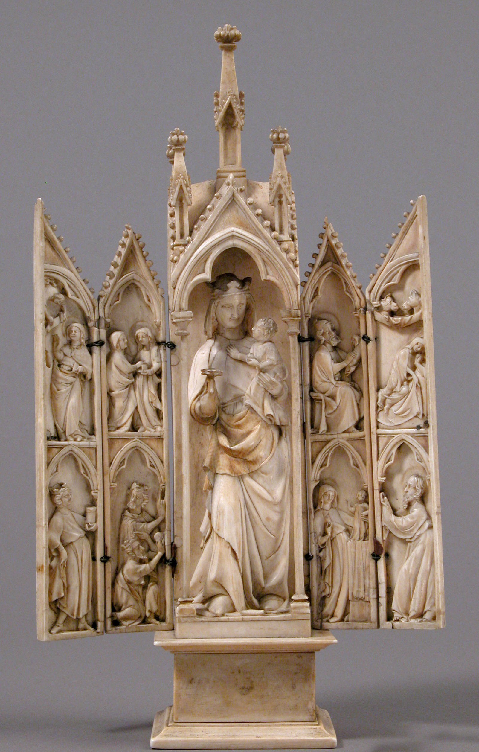 France. Tabernacle with scenes from the infancy of Christ, 1340–50 MET