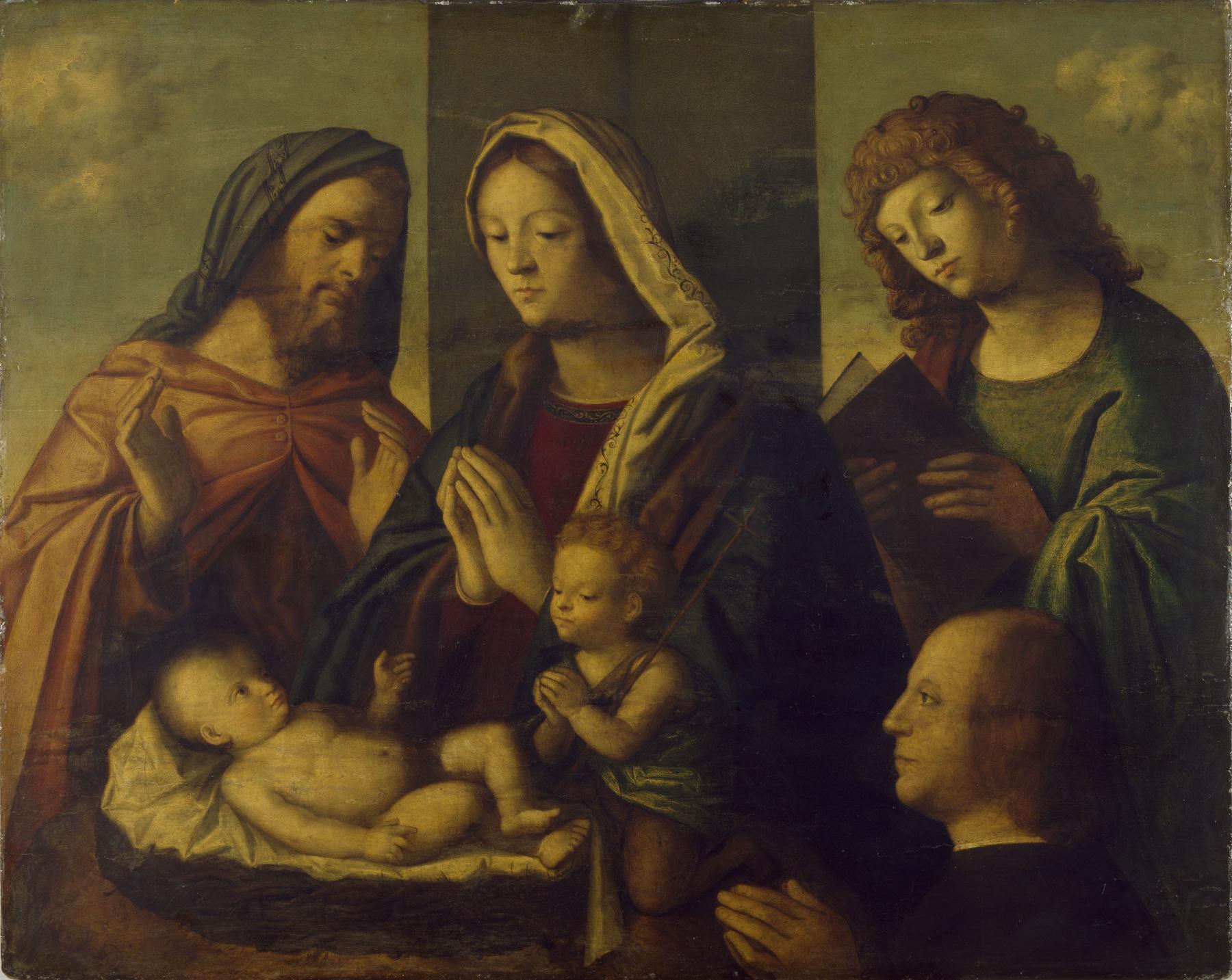 JVD 1490 - 1524 Maestro veneto dell'Incredulita di San Tommaso, Sacra Conversazione con donatore The Walters Art Museum, Baltimora