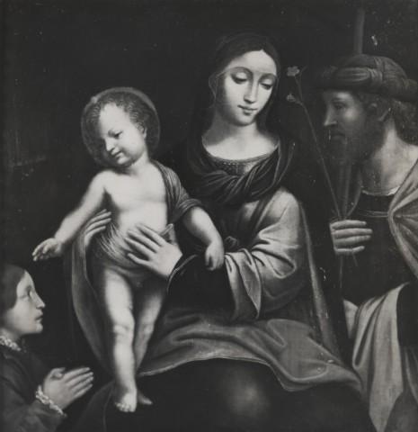 JVD 1500-49 Luini Bernardino, Madonna con Bambino, san Giuseppe e donatore loc inconnue