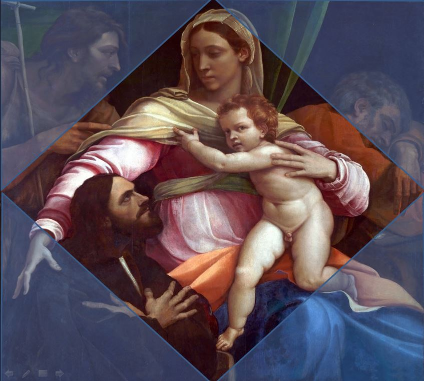 JVD 1517 The Madonna and Child with Saints and a Donor' Sebastiano del Piombo schema