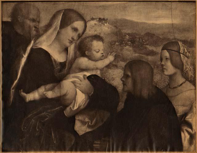 JVD Anonimo veneziano sec. XVI Sacra Famiglia con donatori loc inconnue