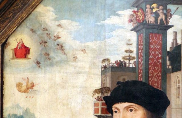 Jan_mostaert,_ritratto_del_cavaliere_abel_van_coustler,_post_1512,_Royal Museums of Fine Arts of Belgium detail haut