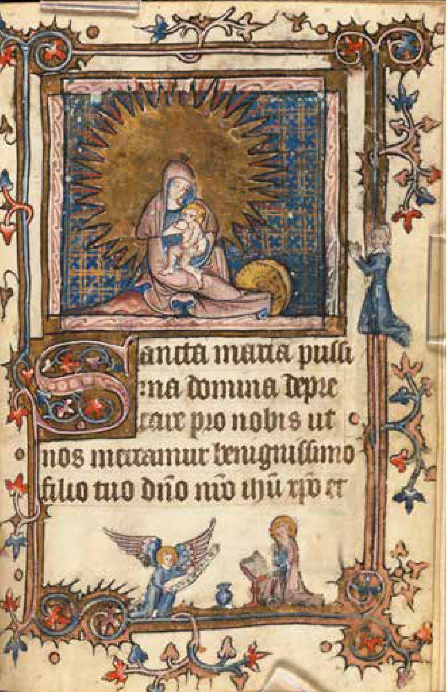Livre D'Heures Metz, 1375-1400 Boston Public Library, MS q Med. 105 f. 49