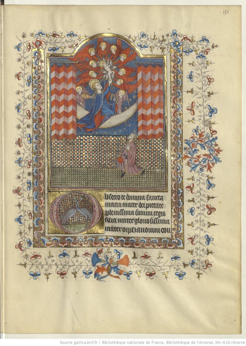 Livre d'heures a l'usage de Rennes, 1420, Arsenal Ms-616 fol 150r