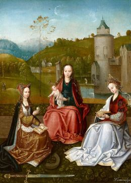 Master of Hoogstraten 1520-30 The Virgin and Child with Saints Catherine and Barbara Royal Collection Trust
