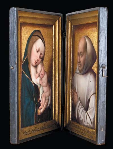 Master of the Magdalen Legend, Virgin and Child, 1490-1500, and unknown French artist, Willem van Bibaut, 1523, Private