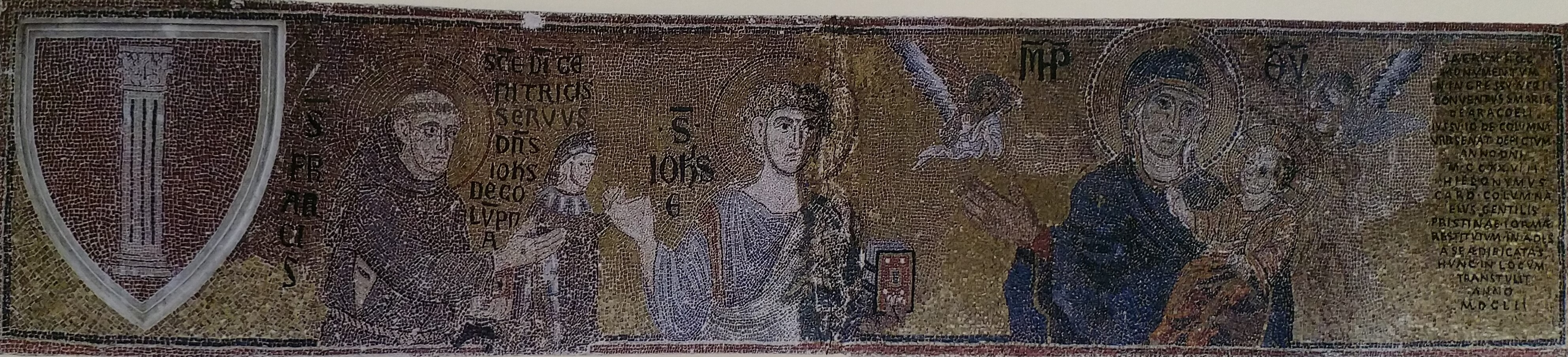 Mosaique provenant de Santa Maria in Aracoeli, chapelle du Palazzo Colonna