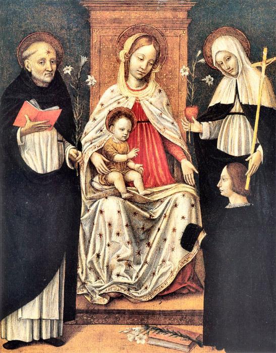 SVDS 1481 - 1522 Bergognone (Ambrogio da Fossano) san Domenico, santa Caterina da Siena e il dona Museo Civico Amedeo Lia, La Spezia