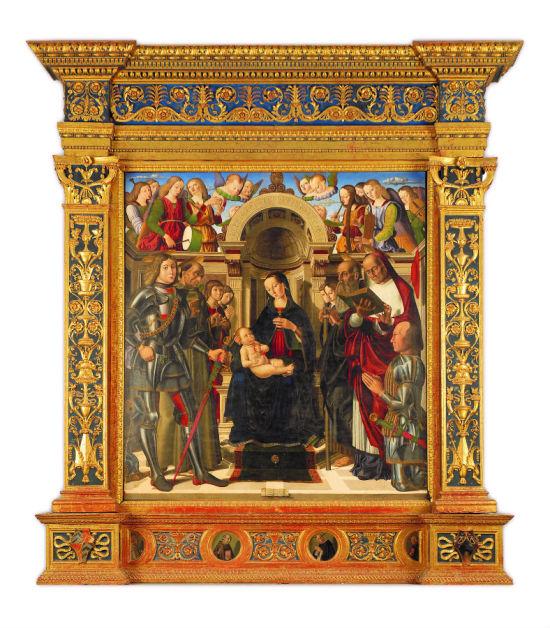 SVDS 1489 Giovanni Santi, Sacra Conversazione con committente, Frontino - Convento di Montefiorentino, Cappella dei Conti Oliva