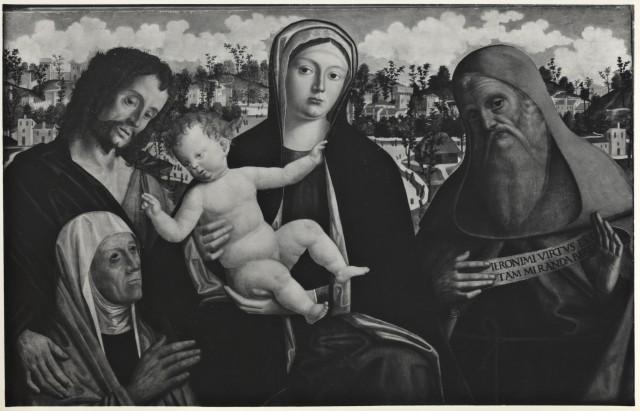 _SVDS 1500-05 Giovanni Mansueti , , san Giovanni Battista, Saint Jerome Coll privee