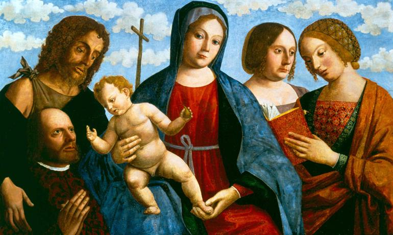 _SVDS 1500-05 Giovanni Mansueti , , san Giovanni Battista, sant'Anna e santa Caterina d'Alessandria Joslyn Art Museum, Omaha