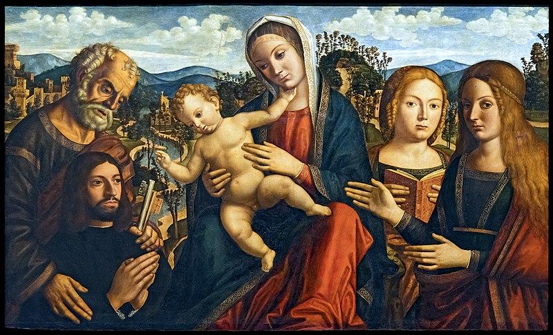 _SVDS 1500-05-Giovanni_mansueti Madonna_con_santi_e_un_donatore_-_Accademia Venise