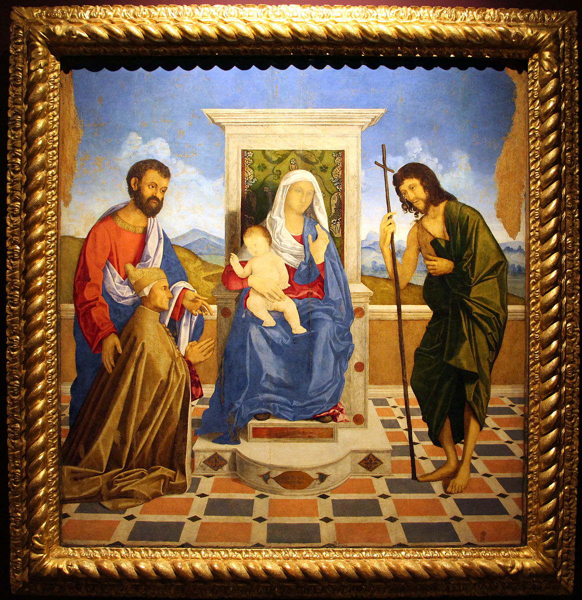 _SVDS 1505-07 madonna-and-child-adored-by-doge-loredan-vincenzo -catena-Sala Erizzo palais des doges