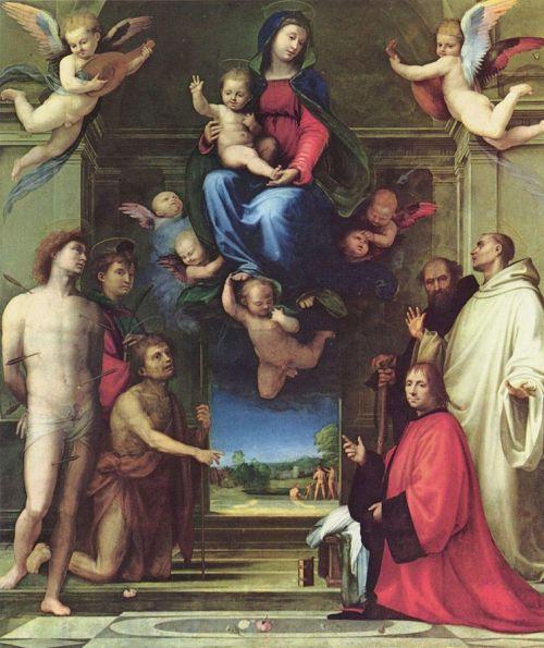 SVDS 1511-12 Fra_Bartolomeo_Maria mit Heiligen und dem Stifter Ferry Carondelet Besancon Cathedrale