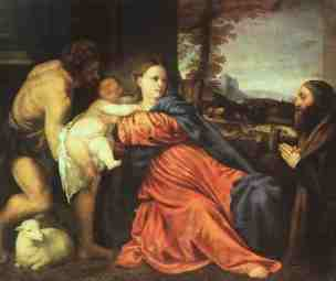 SVDS 1513-14 Titian_Holy_Family_and_Donor Alte Pinakothek