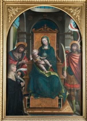 _SVDS 1523 Defendente Ferrari San Giovanni Battista, San Nazzario e committente orante Palazzo Reale di Torino