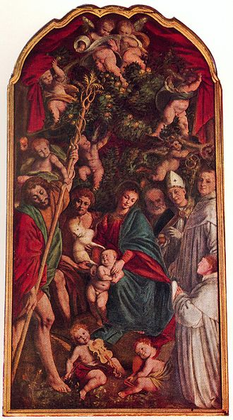 SVDS 1529-30 Ferrari Gaudenzio Madonna degli Aranci Chiesa di S. Cristoforo, Vercelli detail