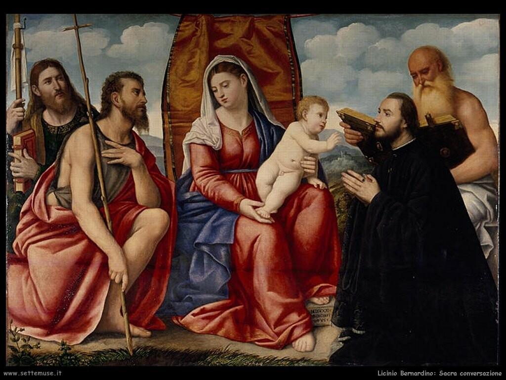 SVDS 1532 licinio_bernardino sacra_conversazione_con_donatore Musee des BA Grenoble