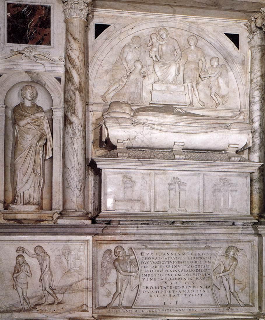 Tullio Lombardo, 1485, Tombeau du Doge Giovanni Mocenigo, Basilique San Giovanni e Paolo, Venise