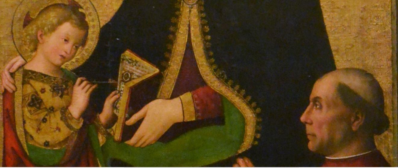 VD 1495 Pinturrichio Virgen de les Febres avec Francisco de Borgia Museu de Belles Arts de Valencia detail