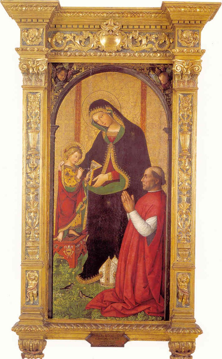 VD 1495 Pinturrichio Virgen de les Febres avec Francisco de Borgia Museu de Belles Arts de Valencia