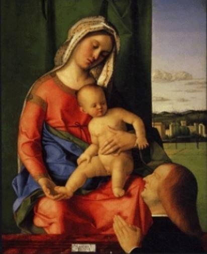VD 1500 Bellini Giovanni Madonna and Child with a Male Donor Collezione Alana - reduit