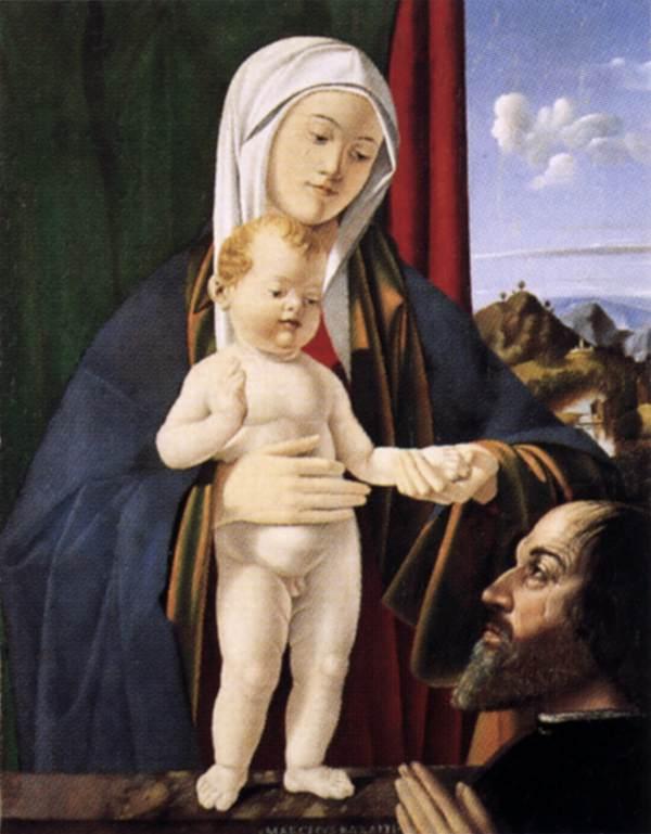 VD 1501-02 Basaiti Madonna con Bambino e un donatore Museo Correr, Venice