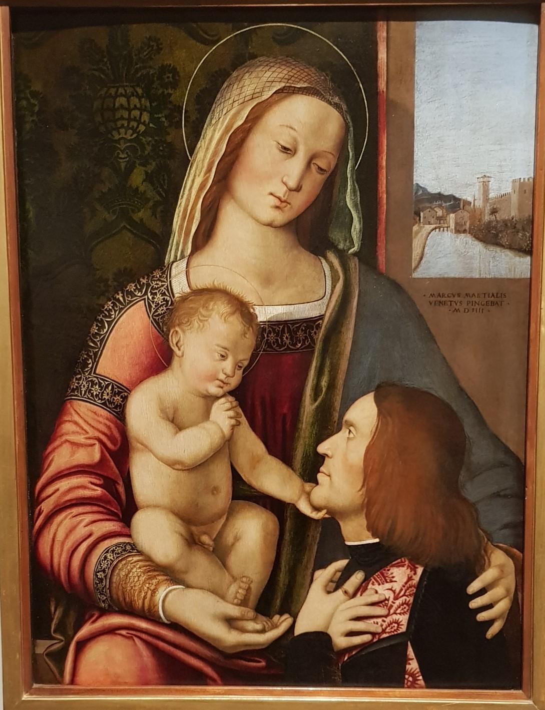 VD 1504 Marziale Marco, Madonna con Bambino e donatore Accademia Carrara, Bergamo
